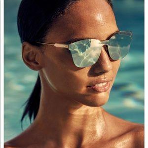 Dior (ColorQuake2) Rectangle Shield Sunglasses